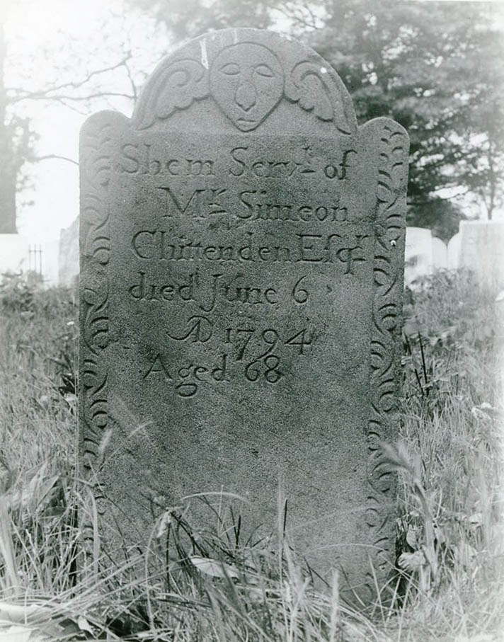 historical photo of Shem's tombstone